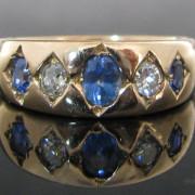 Diamond Sapphire 15K Rose Gold