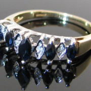 Diamond and Sapphire Gold Ring