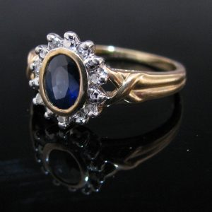 Sapphire and Diamond Gold Ring, Fine Jewellery, Jewellery Shop, Jewellers, Galway