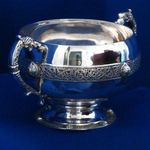 Irish Silver Sugar Bowl