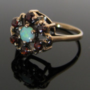 Cluster Garnet and Opal Ring, Garnet Ring, Gold Ring, Fine Jewellery, Jewellery Shop, Jewellers, Galway