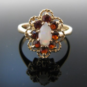Garnet and Opal Ring, Garnet Ring, Gold Ring, Fine Jewellery, Jewellery Shop, Jewellers, Galway