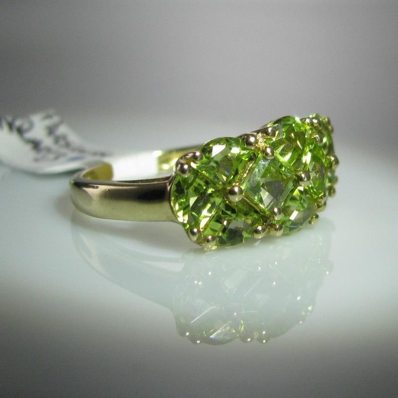 Prasiolite Quartz Green Amethyst Ring 9k Gold The