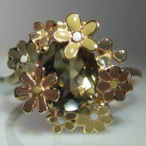 9k Rose Gold Smokey Quartz Ring
