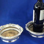 Pair of Wine Bottle / Decanter Coaster