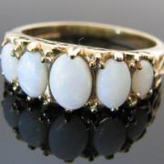 Opal five Stone Ring 9K Yellow Gold