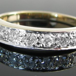 Diamond 7 Stone Eternity Ring, Diamond Ring, Jewellery, Galway, Ireland, The Antiques Room