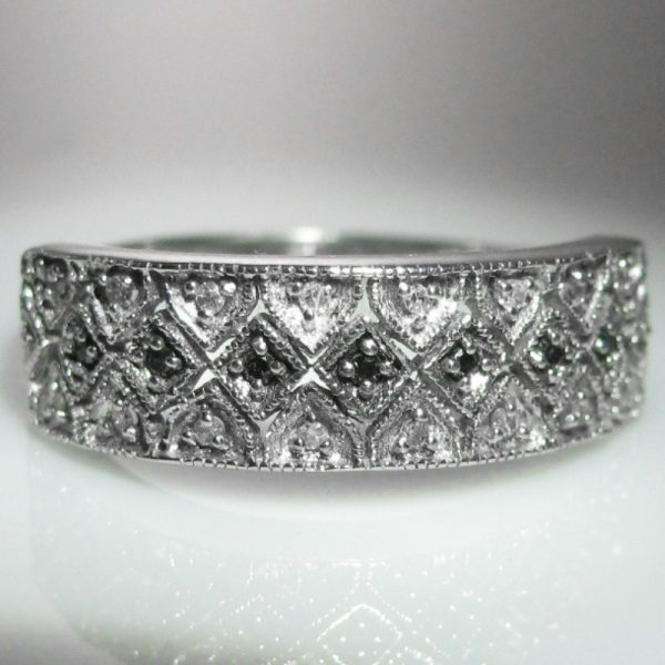 Diamond 9k White Gold Ring Irish Made