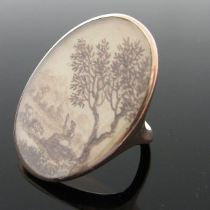 Antique Memorial Ring Circa 1790