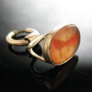 Carnelian Agate Seal Pendant 9k Gold, The Antiques Room, Antique