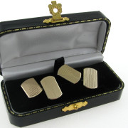 Gents Vintage Cufflinks in 9k Gold - Chester Hallmark 1936