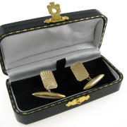 Gents Art Deco Style 9k Gold Cufflinks