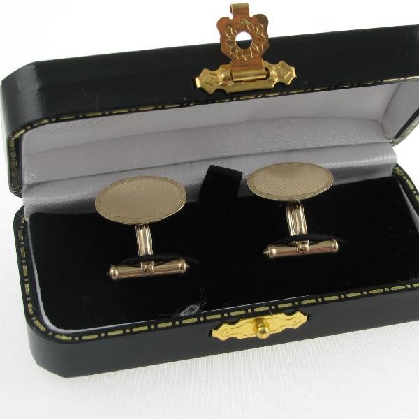 Gents 9k Gold Cufflinks - Irish Made