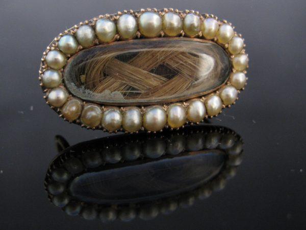 Antique Victorian Pearl Brooch