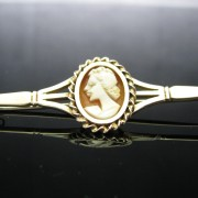 Irish Made Cameo Bar Brooch