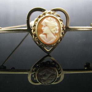 Irish Made 1960's Cameo Bar Brooch
