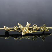 Antique Edwardian 9K Gold Brooch