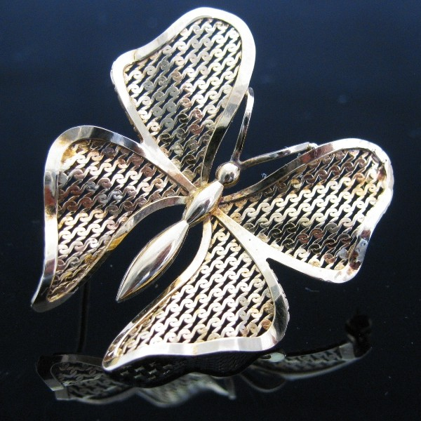 9k Butterfly Brooch