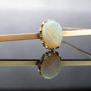9K Gold Opal Bar Brooch