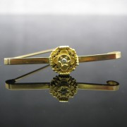 Antique Etruscan 9k Gold Diamond Brooch