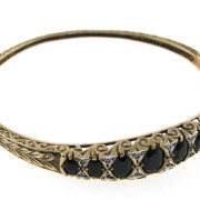 Vintage Gold Bangle With Diamonds in 9k