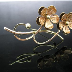 Art Deco Flower Brooch