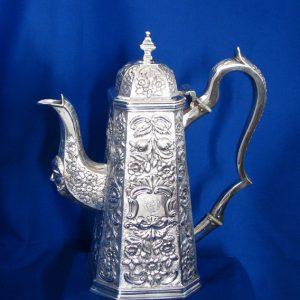 Irish Antique Silver Coffee Pot