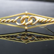 15K Yellow Gold Victorian Bar Brooch