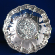 Silver Bon Bon Dish With Maria Theresa Thaler Coin