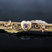 Antique 15k Bar Pin Brooch