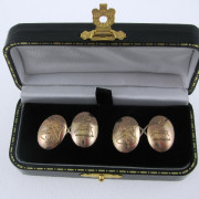Gents Vintage 15k Gold Cufflinks