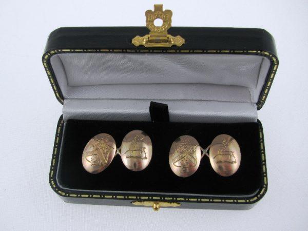 Gents Vintage 15k Gold Cufflinks