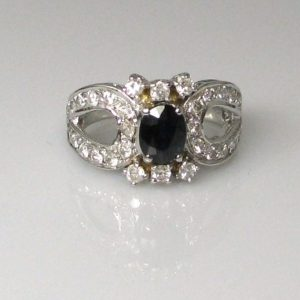Diamond and Sapphire Ring, Fine Jewellery, Jewellery Shop, Jewellers, Galway