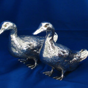 Silver Ducks (Pair)
