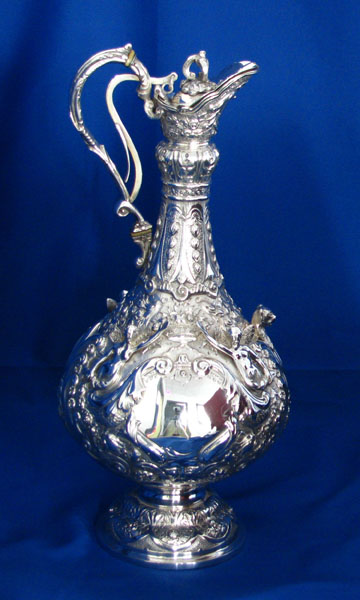 Irish Antique Silver Claret Jug