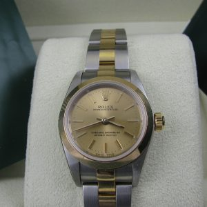 Ladies Rolex Oyster Perpetual 76183 Bi-Metal
