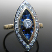 Edwardian Ring, Antique Ring, Sapphire Ring, Galway, Ireland