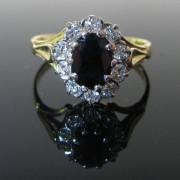 Vintage Sapphire/ Diamond Ring 18K