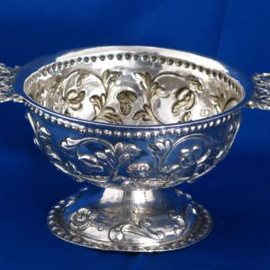 Antique Dutch Silver Brandy Bowl c 1750