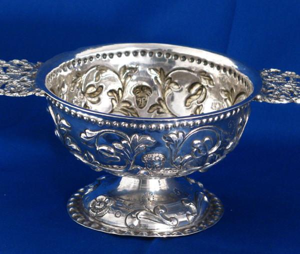 Antique Dutch Silver Brandy Bowl c 1750