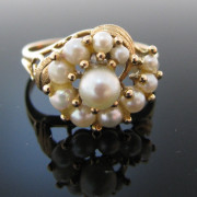 Pearl Ring In 18K Yellow Gold