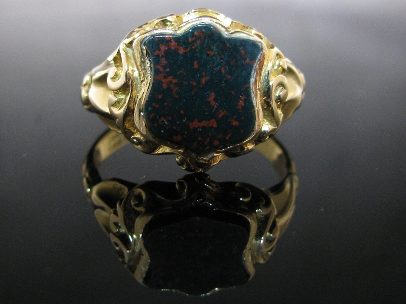 Antique Bloodstone Signet Ring The Antiques Room