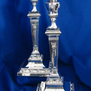 Silver Vintage Candlesticks (Pair)