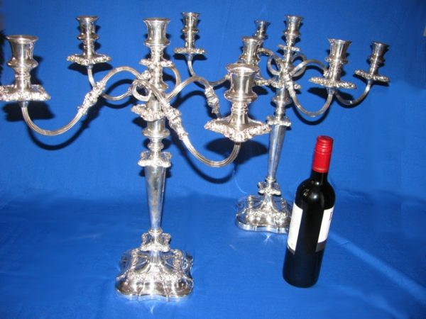 Regency Style Five light Candleabra (Pair)