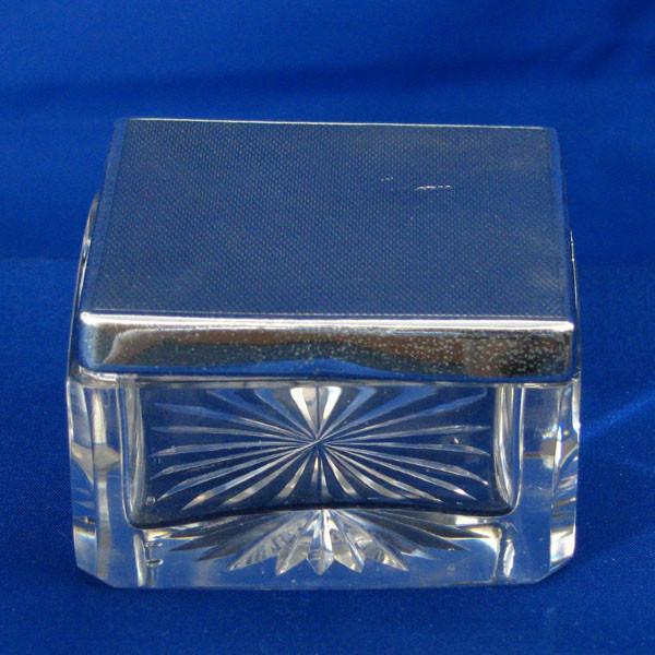 Silver Dressing Table Box / Trinket Box