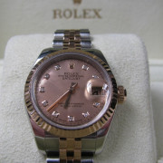 Rolex DJ Two Tone Watch Steel And Rose Gold 179171