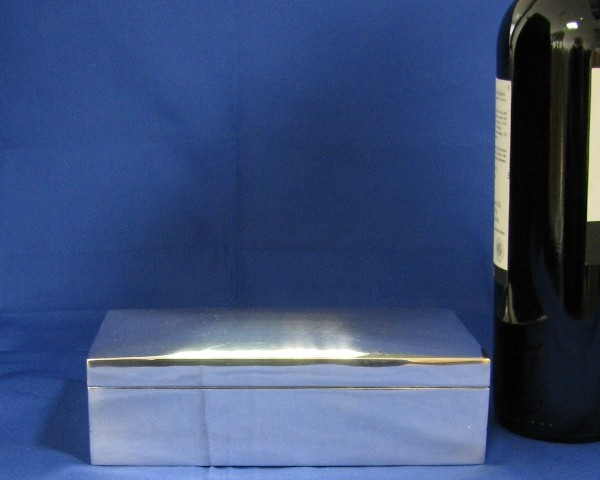 Antique Silver box with Mahogany inlay