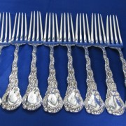 Set of 8 Silver Forks - Shreve