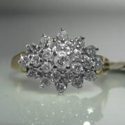Vintage Diamond Cluster Ring, Diamond Ring, Jewellery, Galway, Ireland, The Antiques Room