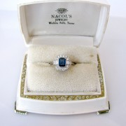 Art Deco Sapphire, Sapphire Ring, Fine Jewellery, Jewellery Shop, Jewellers, Galway